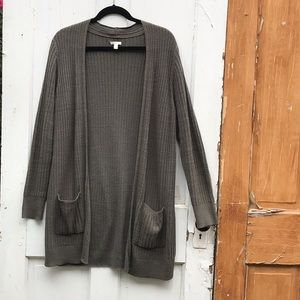 Sonoma long ribbed cardigan with pockets Size L